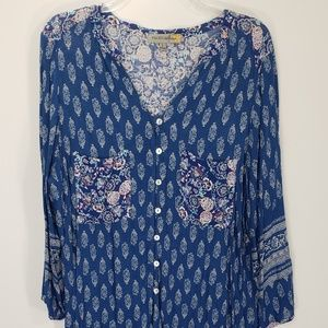 Figueroa & Flower Tunic Blouse New Size Large